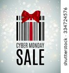 cyber monday background with... | Shutterstock .eps vector #334724576