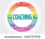 coaching circle stamp word... | Shutterstock .eps vector #334727933