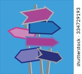 signposts and direction arrows... | Shutterstock .eps vector #334729193