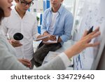 young startup team planning... | Shutterstock . vector #334729640