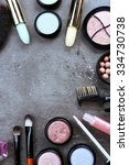 decorative cosmetics laying out ... | Shutterstock . vector #334730738