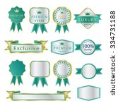 blank premium label and budges... | Shutterstock .eps vector #334731188