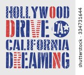 hollywood drive  typography  t... | Shutterstock .eps vector #334731644