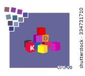 alphabet cubes. vector...   Shutterstock .eps vector #334731710