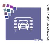 icon of car wash.   Shutterstock .eps vector #334734026