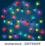 christmas lights theme image 1  ... | Shutterstock .eps vector #334734659