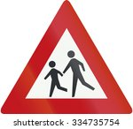 netherlands road sign j21  ... | Shutterstock . vector #334735754