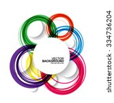 colorful overlapping circles... | Shutterstock .eps vector #334736204