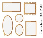 mirrors isolated icons on white ... | Shutterstock .eps vector #334739930