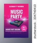 indie musician concert show... | Shutterstock .eps vector #334740410