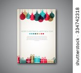 christmas book cover or flyer... | Shutterstock .eps vector #334742318