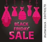 black friday big sale.pink... | Shutterstock .eps vector #334743170