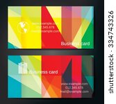 stylish business cards with... | Shutterstock .eps vector #334743326