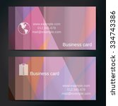 stylish business cards with... | Shutterstock .eps vector #334743386