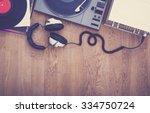 1980's stereo set hero header | Shutterstock . vector #334750724