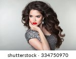 hair. beauty makeup beautiful... | Shutterstock . vector #334750970