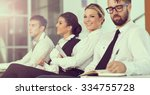 four young business people... | Shutterstock . vector #334755728