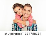pretty young woman embracing... | Shutterstock . vector #334758194