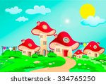 child's drawing of mushrooms...