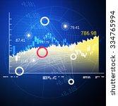 stock market analysis abstract  ... | Shutterstock . vector #334765994