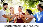 friends friendship party... | Shutterstock . vector #334766693