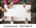 teamwork and cooperation... | Shutterstock . vector #334768619