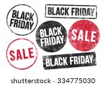 black friday stamps | Shutterstock .eps vector #334775030
