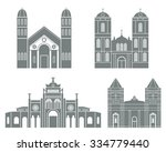 costa rica. abstract buildings... | Shutterstock .eps vector #334779440