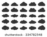clouds silhouettes. vector set... | Shutterstock .eps vector #334782548