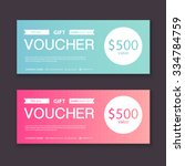 gift voucher template with... | Shutterstock .eps vector #334784759