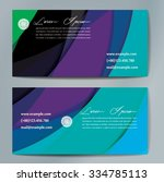 stylish business cards with... | Shutterstock .eps vector #334785113