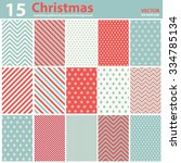 Set Of Christmas Patterns And...