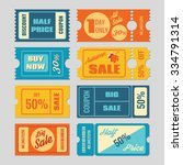 discount coupon  sale tickets... | Shutterstock .eps vector #334791314