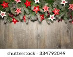 fir tree  branches and advent... | Shutterstock . vector #334792049