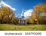 Fall Season In New Haven Green...