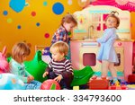 cute little kids playing with... | Shutterstock . vector #334793600
