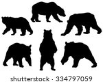 collection of the bear... | Shutterstock .eps vector #334797059