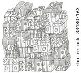 Pattern For Coloring Book. Pile ...