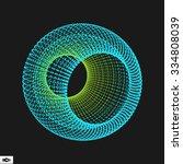 3d sphere. global digital... | Shutterstock .eps vector #334808039