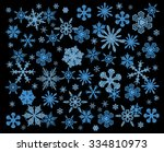 snowflake winter set. vector... | Shutterstock .eps vector #334810973