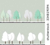 Abstract Vector Set Of Winter...