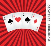 vector illustration of poker | Shutterstock .eps vector #334819790
