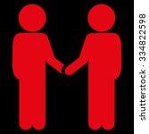 children handshake vector icon. ...   Shutterstock .eps vector #334822598