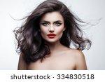 portrait of a beautiful... | Shutterstock . vector #334830518