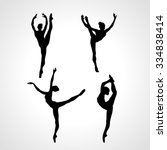 creative silhouettes of 4... | Shutterstock .eps vector #334838414