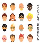casual people avatar and office ... | Shutterstock .eps vector #334839716