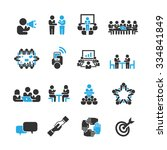 meeting icons vector | Shutterstock .eps vector #334841849