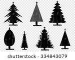 christmas tree  vector | Shutterstock .eps vector #334843079
