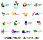 geometric shapes company logo... | Shutterstock .eps vector #334846280