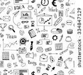 hand drawn business doodles... | Shutterstock .eps vector #334847129